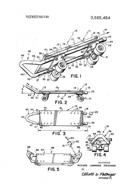 Patent US8251383 - Skateboard truck assembly - Google Patenten